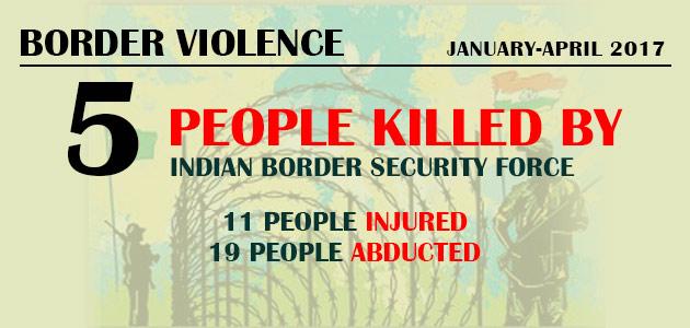 Border Violence : January-April 2017