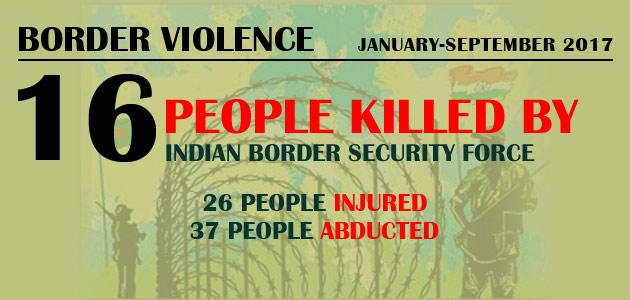 Border Violence : January-September 2017