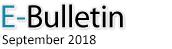 E-Bulletin, September 2018