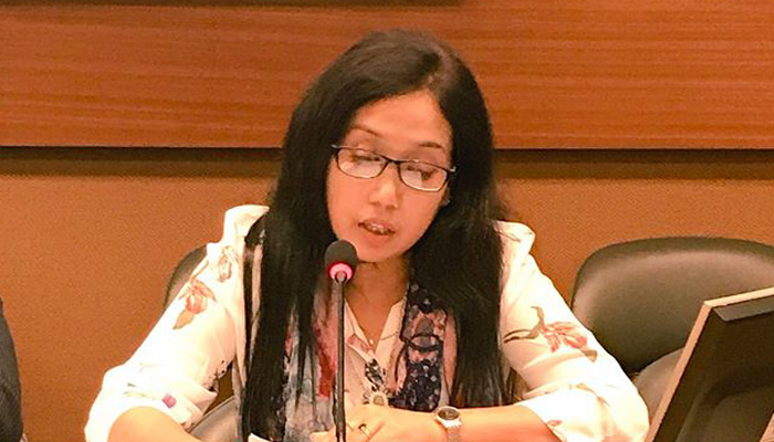 Rasheda Akhter delivering the statement on behalf of Child Rights Advocacy Coalition in Bangladesh
