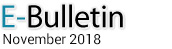 E-Bulletin, November 2018